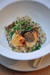 King Crab with buckwheat risotto and truffles, Nobu