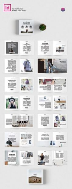 Minimal Magazine Template - Melody's Page Page Layout Design, Magazine Layout Design, Design Blog, Web Design, Design Ideas, Booklet Layout, Booklet Design, Layout Book, Editorial Layout