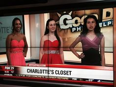 A few photos to share with you from our live appearance on Good Day Philadelphia FOX 29 this morning! Did you see us? ‪#‎ShopCharlottesCloset‬ ‪#‎Prom‬ ‪#‎BorrowIsTheNewBlack‬