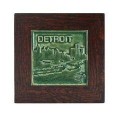Pewabic Pottery Framed Detroit Tile - Detroit Institute of Arts Museum Shop