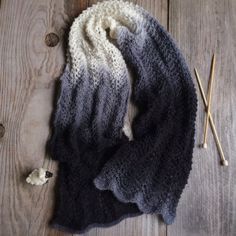 An easy to remember pattern repeat for a beautiful lacy scarf.