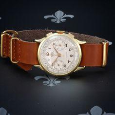 Professionally Restored CINY Swiss Vintage Chronograph Watch Landeron Cal. 148