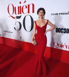 En la gala de @quiencom !! ❤️💃🏻 #pamallier #quien50 Red Tight Prom Dress, The Dress, Nice Dresses, Formal Dresses, Amazing Dresses, Sexy Gown, Swarovski, Pamela, Party Looks