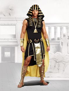 Pharaoh King Tut Mighty Ruler Anubis Halloween Outfit Egyptian Costume Adult Men in Clothing, Shoes & Accessories, Costumes, Reenactment, Theater, Costumes | eBay