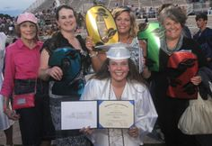 Lindsay Jones and family celebrate after the Chambersburg Area Senior High School graduation on Friday, June 8, 2012. (Public Opinion/Ryan Blackwell)