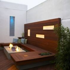 lighting in wall