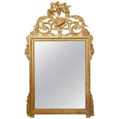 18th Century French Hand-Carved Mirror