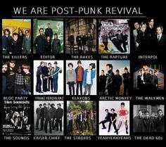 Just found out most of my favourite bands has connection, they're mostly all falls into a same genre : Post-Punk Revival. Sorry for my poor knowledge on music genre.