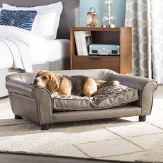 Brilliant Enchanted Home Pet Maxwell Sofa Stone Cypress For Dog 40 5 Machost Co Dining Chair Design Ideas Machostcouk
