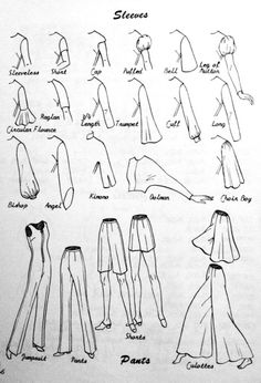 sleeves pants visual glossary