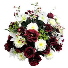 40 Stems Artificial Rose, Lily, Zinnia, Queen Anne's Lace Mixed Flower Bush with Greenery|https://ak1.ostkcdn.com/images/products/12972598/P19720886.jpg?impolicy=medium