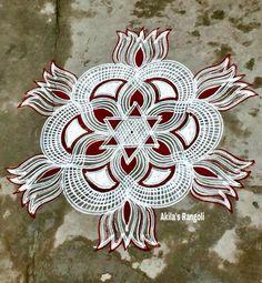 Free Hand Rangoli Design, Small Rangoli Design, Rangoli Ideas, Rangoli Designs Diwali, Rangoli Designs Images, Kolam Rangoli, Beautiful Rangoli Designs, Simple Rangoli, Colour Rangoli