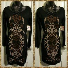 Black sweater dress Long sleeve light sweater dress Derek Heart Dresses Long Sleeve