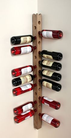 Wine Staff - Vinhaven - Wine Storage More - Houses interior designs Bottle Rack, Wine Bottle Holders, Wine Bottles, Do It Yourself Einrichtung, Wood Projects, Woodworking Projects, Wine Storage Cabinets, Wood Storage, Storage Ideas