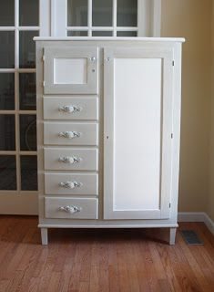 The Black Sheep Shoppe: Early 1900's chifferobe painted in Country Grey and Old White (Annie Sloan Chalk Paint).
