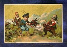 chromo Liebig S43 Trade Card Enfant Ecosse Scotland Ane Donkey Vallet Minot 1873