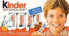 Kinder chocolat, le visage le plus immortel de l'histoire de la publicité.