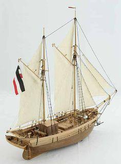Ship model galeas KARL UND MARIE, end of 19th century