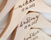 1 Personalized Wedding Dress Hanger with by DelovelyDetails