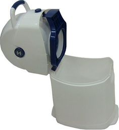 #puericultura Diaper Champ 3041 R – Cubo de basura para pañales, tamaño pequeño, color azul y blanco