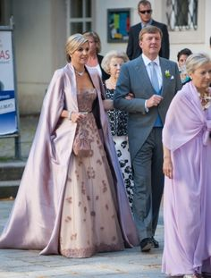 A beautiful gown worn by Maxima to her brother's wedding.