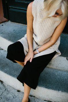 Coggles Ganni Sleevess Sweater Black Culottes Fashion Trends 2016   // Charleston Fashion Blogger Dannon Like The Yogurt