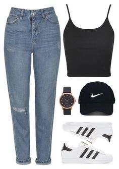"""Thursday."" by camgueyana ❤ liked on Polyvore featuring Topshop, adidas Originals, Nike Golf and Marc Jacobs"