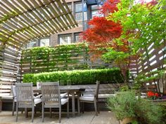 A great way to keep a small outdoor space private