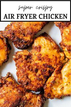 Air Fryer Recipes Chicken Thighs, Chicken Thigh Recipes Oven, Air Fryer Oven Recipes, Air Frier Recipes, Air Fryer Dinner Recipes, Baked Chicken Recipes, Oven Chicken, Boneless Chicken Thighs Crockpot, Recipes With Chicken Thighs