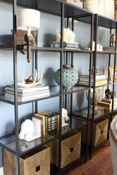 Ikea Shelving with clip-on sconces from Swoon