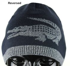 397b8af88 Lacoste Men s Reversible Croc Extra Fine Merino Wool Beanie TU ONE RB3531  NEU – JaneMarketplace