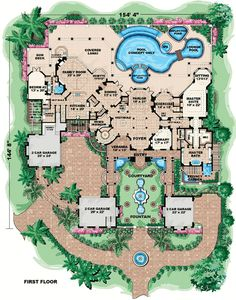 1000 ideas about mansion floor plans on pinterest floor for House plans 10000 square feet plus