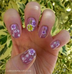 Vintage Floral Nails with Born Pretty Store Water Decals