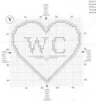Gallery.ru / Фото #1 - 13.101 - geminiana Lizzie Kate, Cute Embroidery, Cross Stitch Heart, Le Point, Cross Stitching, Cross Stitch Patterns, Free Pattern, Diy And Crafts, Bullet Journal
