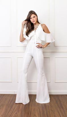 MACACÃO DECOTE CRUZADO - MAC18324-99 | Skazi, Moda feminina, roupa casual, vestidos, saias, mulher moderna