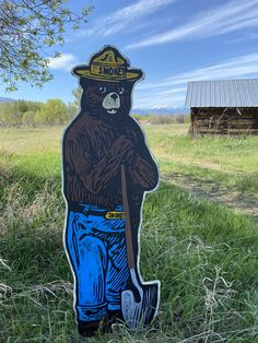 Custom sign Full Size Smokey the Bear hand painted sign by on Etsy Bear Signs, Smokey The Bears, Camping Signs, Forest Service, Hand Painted Signs, National Forest, Picture Show, Painting On Wood, Camper