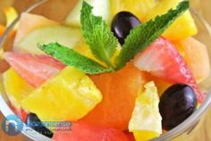 Honey Mint Fruit Cup - take your average fruit cup to the next level!