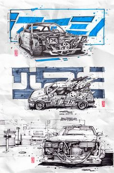 Artem Solop on Behance Vaporwave Wallpaper, Robot Concept Art, Concept Cars, Epic Art, Cyberpunk Art, Art Station, Car Sketch, Cool Sketches, Automotive Art