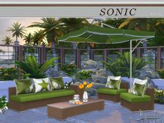 Sonic Patio by NynaeveDesign at TSR • Sims 4 Updates