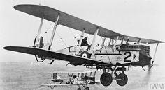 Airco DH.9A (de Havilland DH.9) two-seat bomber in flight