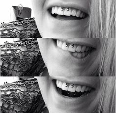 Smiley piercing:aka next goal. Sorry mom!