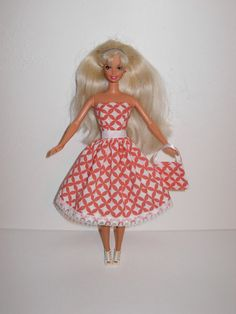 Handmade barbie clothes CUTE dress and bag 4 barbie by gordon4aday