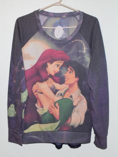 Little Mermaid Sweater Disney Sweatshirts, Disney Sweaters, Hoodies, Diesel Punk, Cyberpunk, Rockabilly, Grunge, Steampunk, Disney Inspired Fashion