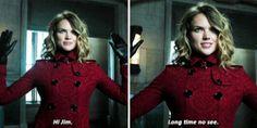 """""""Hi Jim. Long time no see"""" - Barbara making an entrance #Gotham"""
