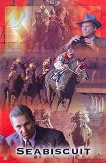 SEABISCUIT COLLAGE Poster - Horse Racing Movie (2003) Starring Jeff Bridges -available at www.sportsposterwarehouse.com