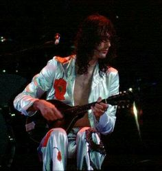 Jimmy Page playing the Mandolin