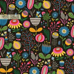 New pattern by Helen Dardik  So dense + lush!  This colour way reminds me of Josef Frank
