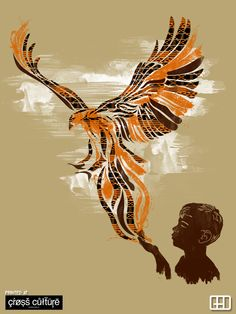 Feel the rhythm of freedom, soaring high above the clouds. Hear its wings flapping with purity and untamed innocence.    Printed at http://www.crossculture-fashion.com/products/kente-freedom-t-shirt-men