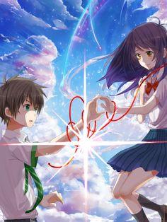 Your Name- Mitsuha and Taki Anime Art Girl, Manga Art, Anime Manga, Kimi No Na Wa, Anime Love Couple, Cute Anime Couples, Mitsuha And Taki, Kero Sakura, Your Name Anime