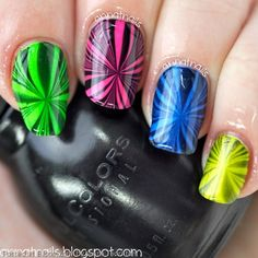 Neon Watermarble by Anna Thornton {EDL}